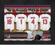 St Louis Cardinals  Personalized Locker Room 11 x 14 Framed Photograph