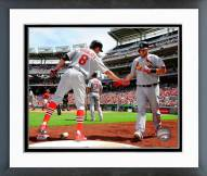 St. Louis Cardinals Peter Bourjos & Matt Adams Framed Photo