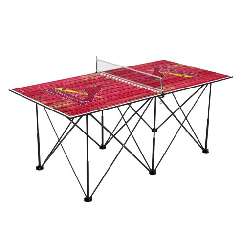 St. Louis Cardinals Pop Up 6' Ping Pong Table