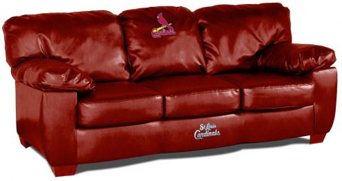 St. Louis Cardinals Red Leather Classic Sofa