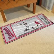 St. Louis Cardinals Ticket Runner Rug