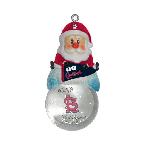 St. Louis Cardinals Santa Snow Globe Ornament