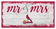 St. Louis Cardinals Script Mr. & Mrs. Sign