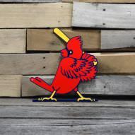 """St. Louis Cardinals Slugger Bird 12"""" Steel Logo Sign"""