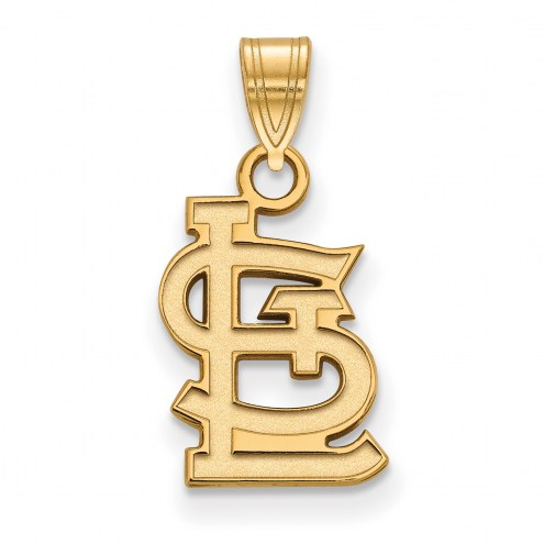 St. Louis Cardinals Sterling Silver Gold Plated Small Pendant