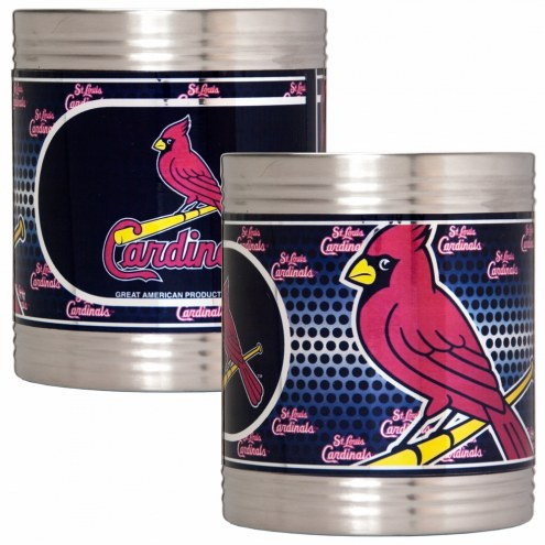 St. Louis Cardinals Stainless Steel Hi-Def Coozie Set