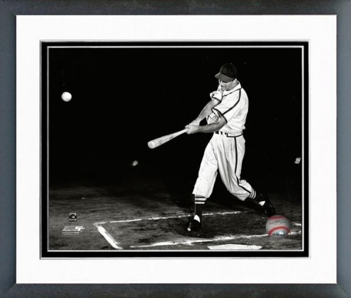 St. Louis Cardinals Stan Musial Action Framed Photo