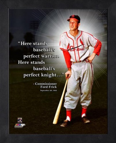 St. Louis Cardinals Stan Musial Framed Pro Quote