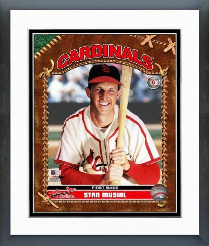 St. Louis Cardinals Stan Musial Studio Plus Framed Photo