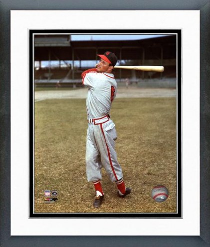 St. Louis Cardinals Stan Musial with Bat Framed Photo