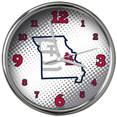 St. Louis Cardinals State of Mind Chrome Clock