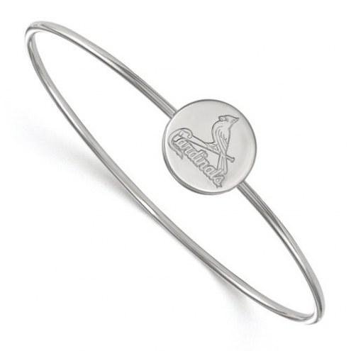 St. Louis Cardinals Sterling Silver Bangle Slip on Bracelet