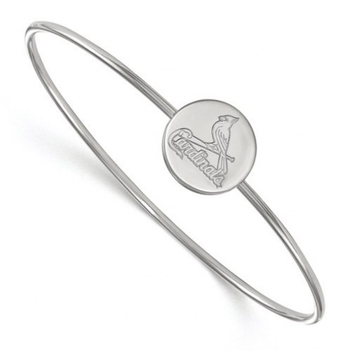 St. Louis Cardinals Sterling Silver Bangle Slip on Bracelet