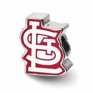 St. Louis Cardinals Sterling Silver Enameled Bead