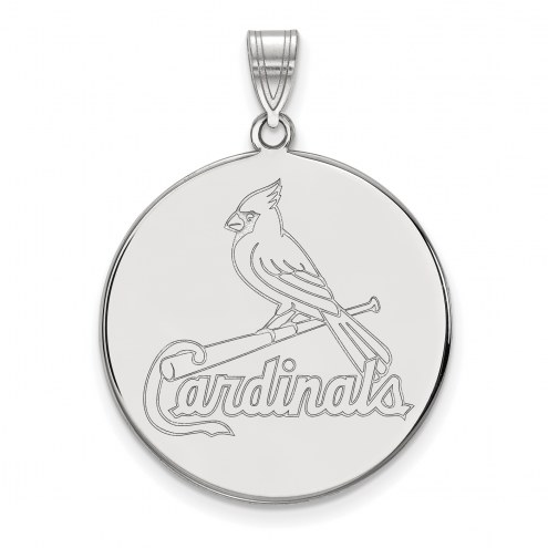 St. Louis Cardinals Sterling Silver Extra Large Disc Pendant