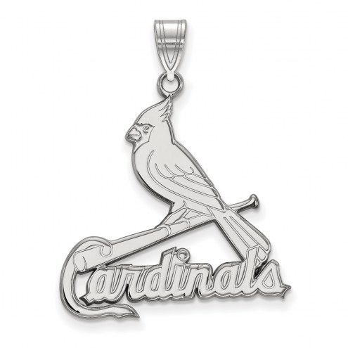 St. Louis Cardinals Sterling Silver Extra Large Pendant