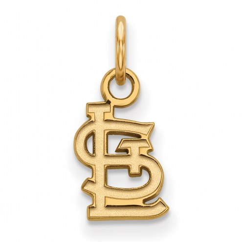 St. Louis Cardinals Sterling Silver Gold Plated Extra Small Pendant