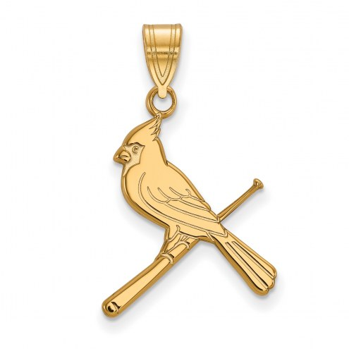 St. Louis Cardinals Sterling Silver Gold Plated Large Pendant