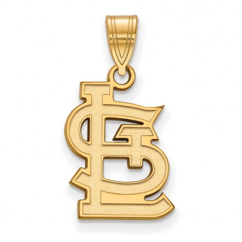 St. Louis Cardinals Sterling Silver Gold Plated Medium Pendant