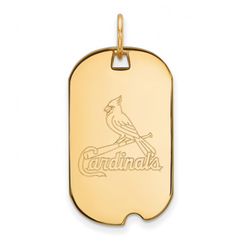St. Louis Cardinals Sterling Silver Gold Plated Small Dog Tag