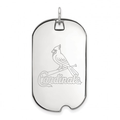 St. Louis Cardinals Sterling Silver Large Dog Tag
