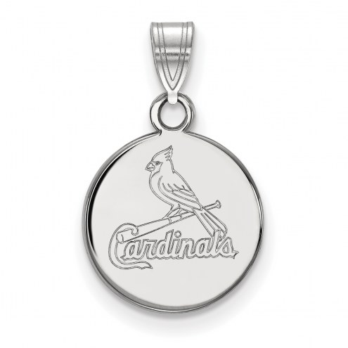 St. Louis Cardinals Sterling Silver Small Disc Pendant