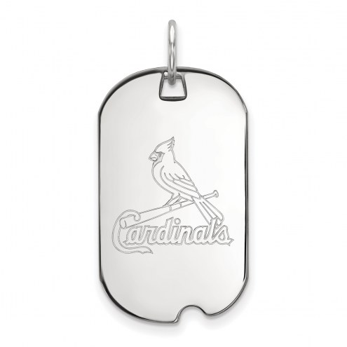 St. Louis Cardinals Sterling Silver Small Dog Tag
