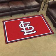 "St. Louis Cardinals ""STL"" 4' x 6' Area Rug"