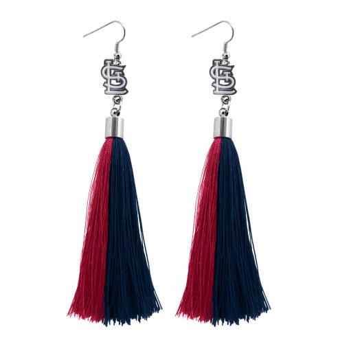 St. Louis Cardinals Tassel Earrings