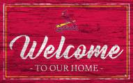 St. Louis Cardinals Team Color Welcome Sign