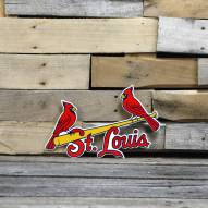 "St. Louis Cardinals Two Birds 12"" Steel Logo Sign"