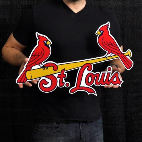"St. Louis Cardinals Two Birds 24"" Steel Logo Sign"
