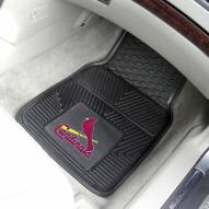 St. Louis Cardinals Vinyl 2-Piece Car Floor Mats