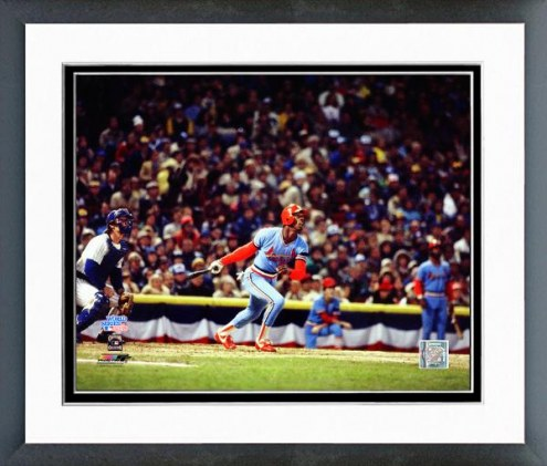St. Louis Cardinals Willie McGee 1982 World Series Framed Photo