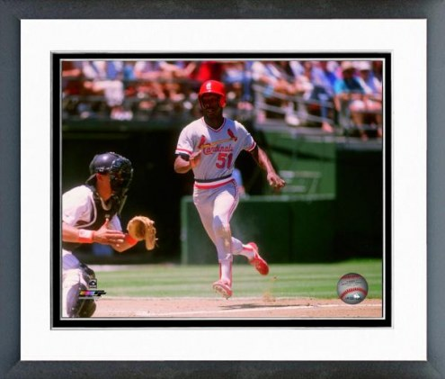 St. Louis Cardinals Willie McGee 1988 Action Framed Photo
