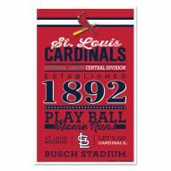 St. Louis Cardinals Established Wood Sign