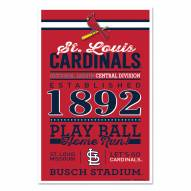 St. Louis Cardinals Established Wood Sign
