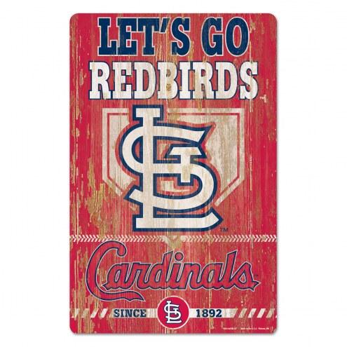 St. Louis Cardinals Slogan Wood Sign