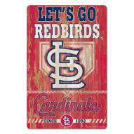 St. Louis Cardinals Slogan Wood Sign