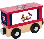 St. Louis Cardinals Wood Box Car Train