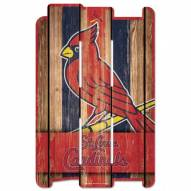 St. Louis Cardinals Wood Fence Sign