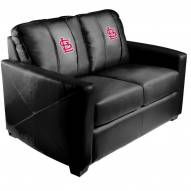 St. Louis Cardinals XZipit Silver Loveseat with Secondary Logo