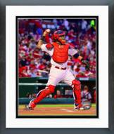 St. Louis Cardinals Yadier Molina Action Framed Photo