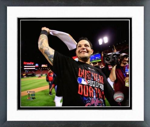 St. Louis Cardinals Yadier Molina NL Division Series Framed Photo