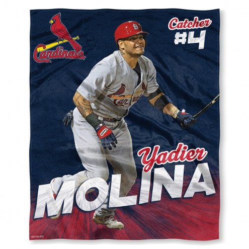 St. Louis Cardinals Yadier Molina Silk Touch Blanket