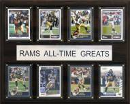 """Los Angeles Rams 12"""" x 15"""" All-Time Greats Plaque"""