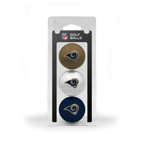 Los Angeles Rams 3 Pack of Golf Balls