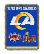 Los Angeles Rams Commemorative Throw Blanket