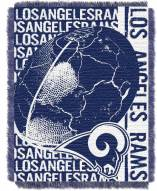 Los Angeles Rams Double Play Jacquard Throw Blanket
