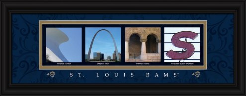 Los Angeles Rams Framed Letter Art